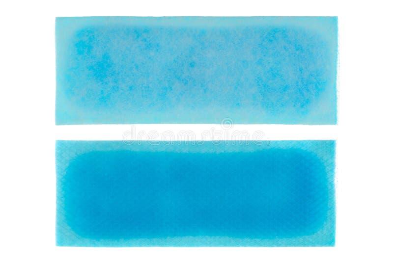 Fasten abkühlendes Gelblatt zum Entlastungsfieber, blauer Hydrogelfleckenisolator lizenzfreie stockfotografie