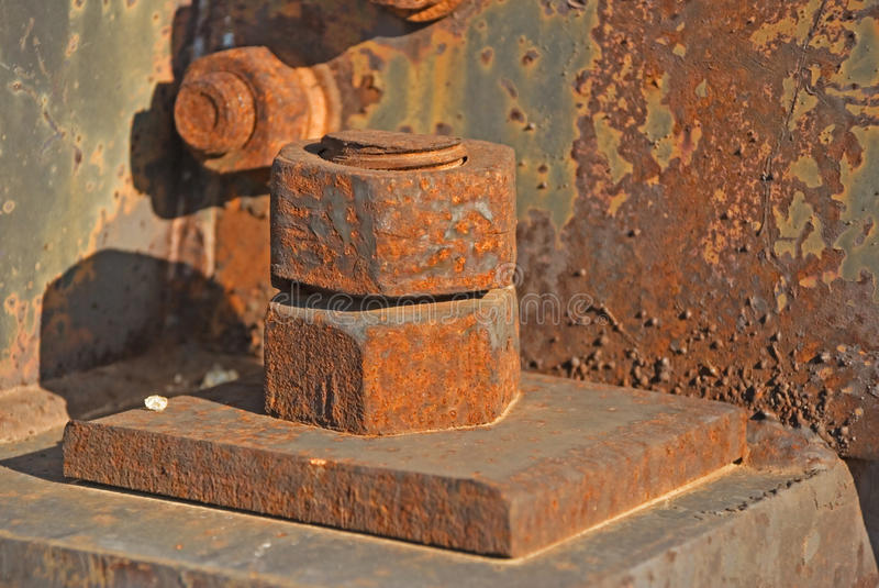 Download Fastening on bolts stock photo. Image of large, iron - 11256788
