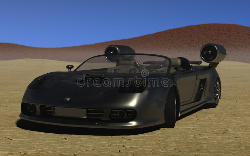 Download Fastest car around stock illustration. Illustration of desert - 16898500