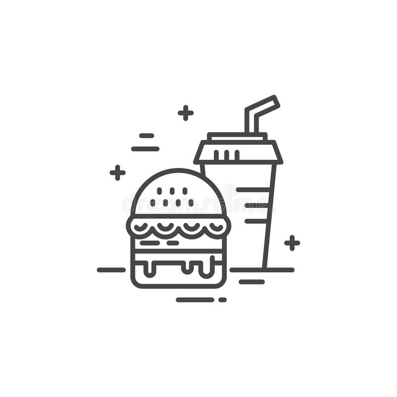 Fastfood Line Icon vector illustration