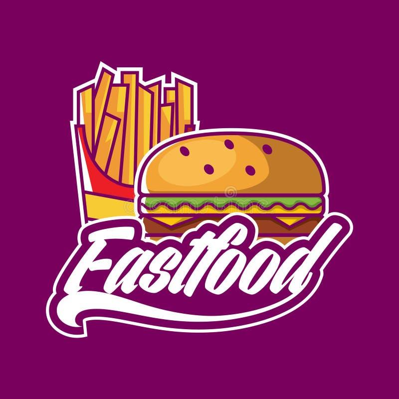 Fastfood logo design. Seafood logo design, modern logo, vintage logo, modern logo, Fastfood logo design stock illustration