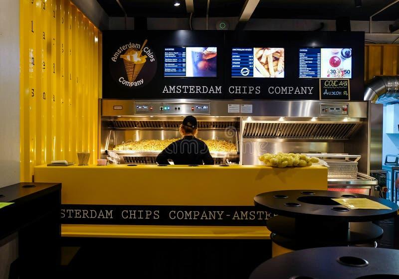 Fastfoodcafé lizenzfreies stockfoto