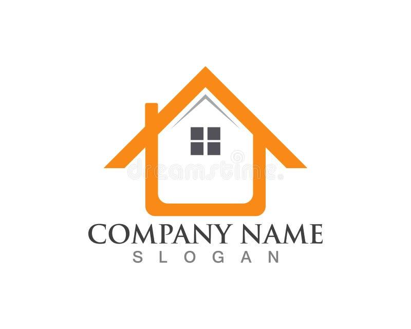 Fastighet och hem- logoer vektor illustrationer