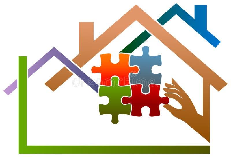 Fastighetbundsförvant stock illustrationer