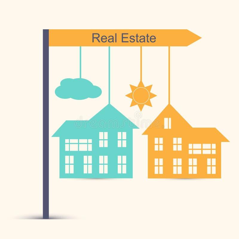 Fastighetdesignbegrepp royaltyfri illustrationer