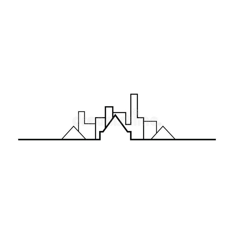 Fastighetgränslogo stock illustrationer