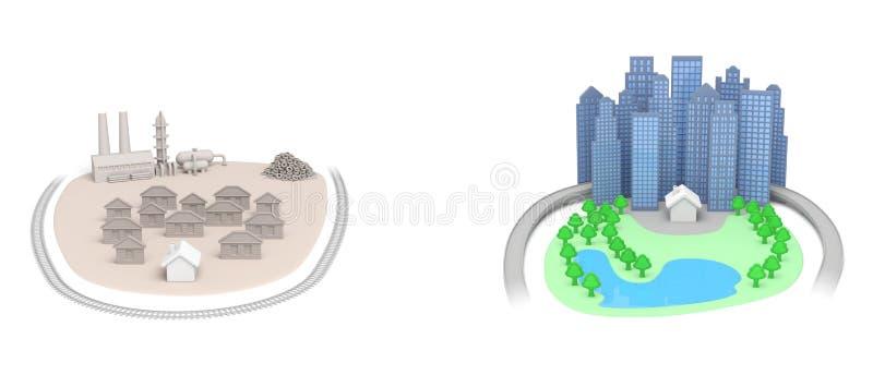 Fastighethus stock illustrationer