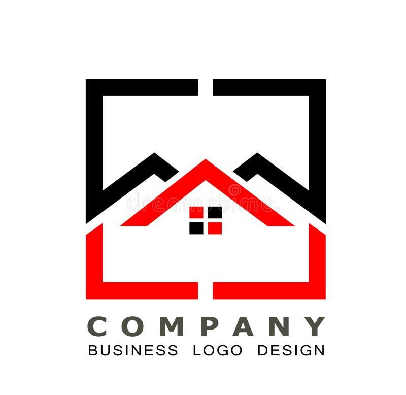 Fastighethustak och hem- vektor för design för symbol för logovektorbeståndsdel på vit bakgrund Affär samling stock illustrationer