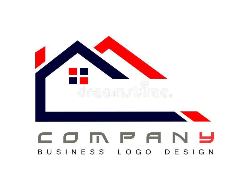 Fastighethustak och hem- vektor f?r design f?r symbol f?r logovektorbest?ndsdel p? vit bakgrund Aff?r samling royaltyfri illustrationer