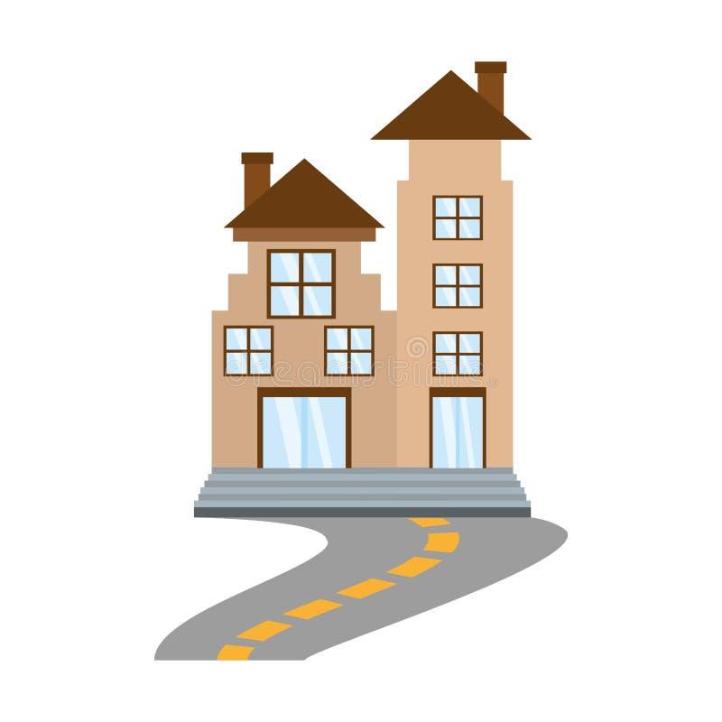 fastighethyreshusväg royaltyfri illustrationer