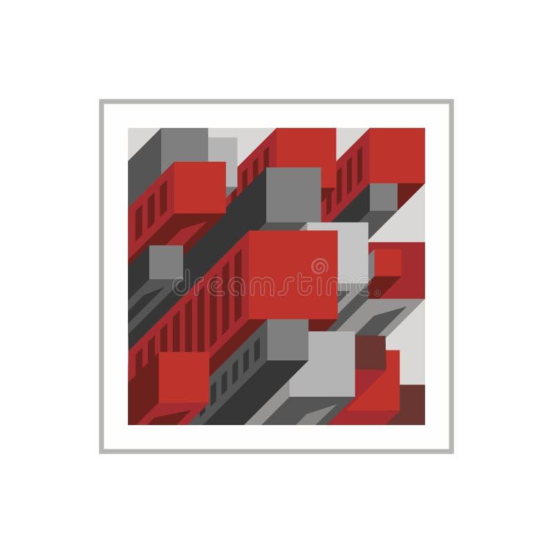 Fastighetlogomall royaltyfri illustrationer