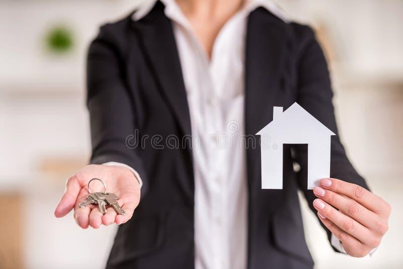 fastighetsmäklare royaltyfri bild