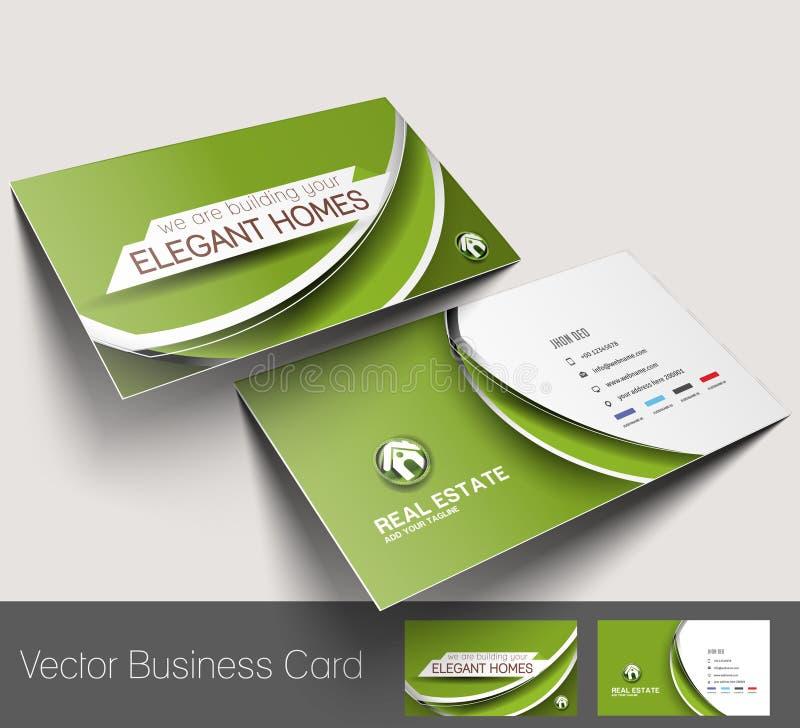 Fastighetsmäklare Business Card stock illustrationer