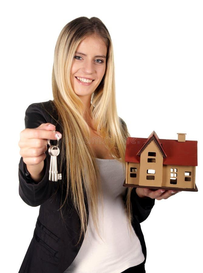 Fastighetsmäklare Woman Concept royaltyfri fotografi