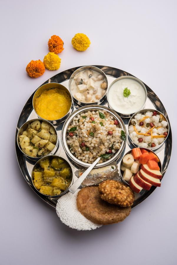 Fasting Food or Upwas or Vrat Food Consumed during Navratri or Ekadasi in  Hindu Religion Stock Photo - Image of delicious, fruits: 159829248