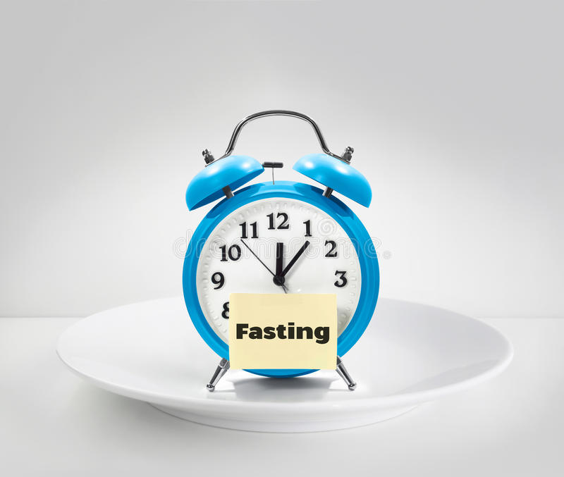 Fasting time royalty free stock images