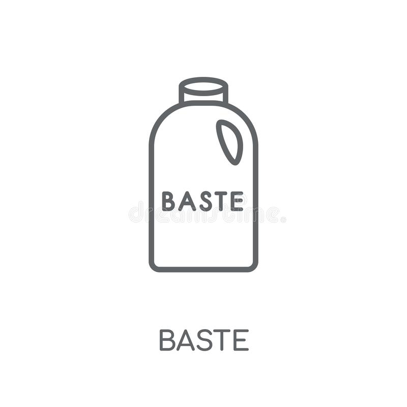 fastrygi liniowa ikona Nowożytny kontur fastrygi logo pojęcie na białych półdupkach ilustracja wektor