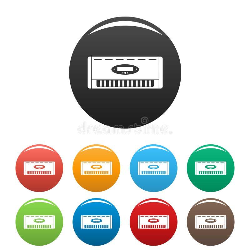 Fastställd färg för Digital hårbalsamsymboler stock illustrationer