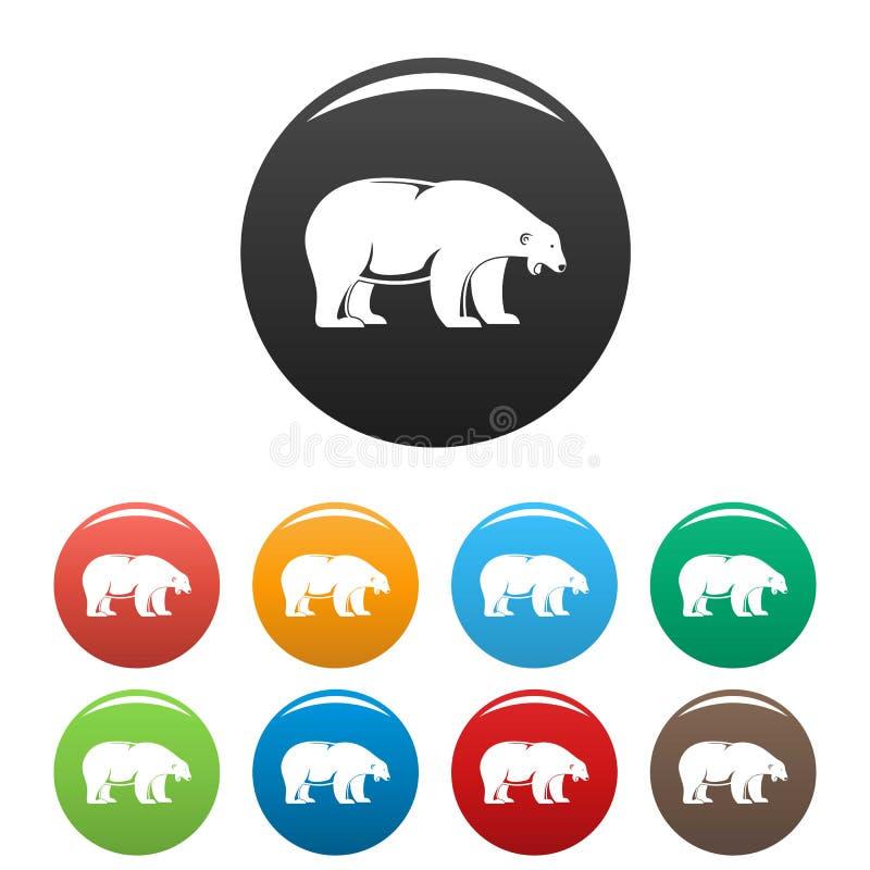 Fastställd färg för isbjörntjutsymboler royaltyfri illustrationer