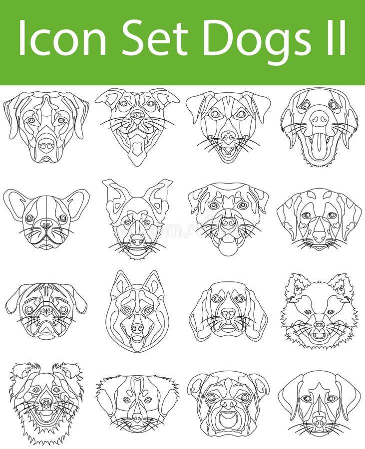 Fastställd hundkapplöpning för symbol II stock illustrationer