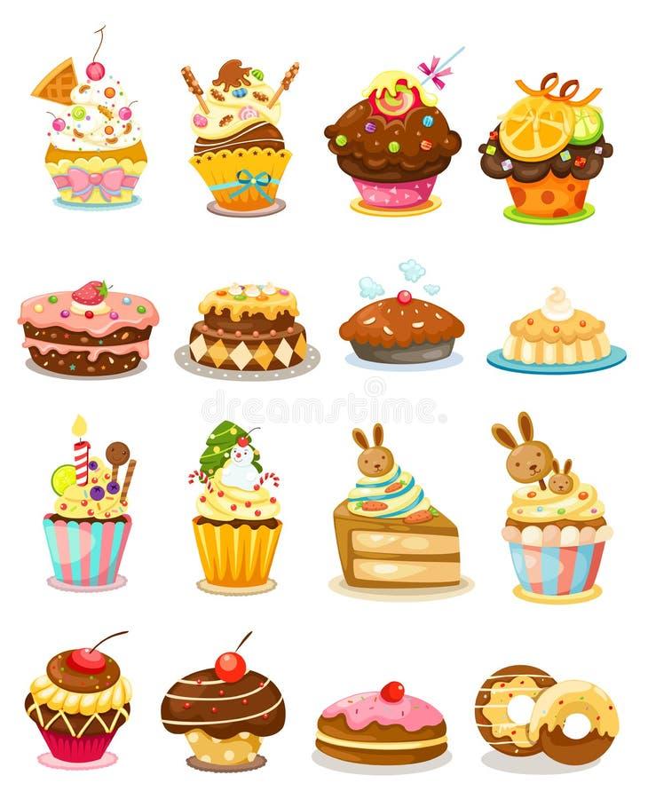 Fastställd muffin vektor illustrationer