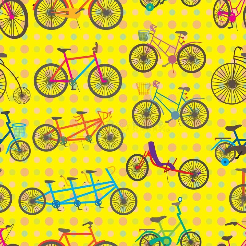 Fastställd sömlös modell för cykel vektor illustrationer