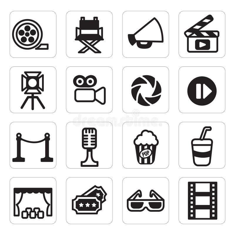 Fastställd symbol för vektor av bion stock illustrationer