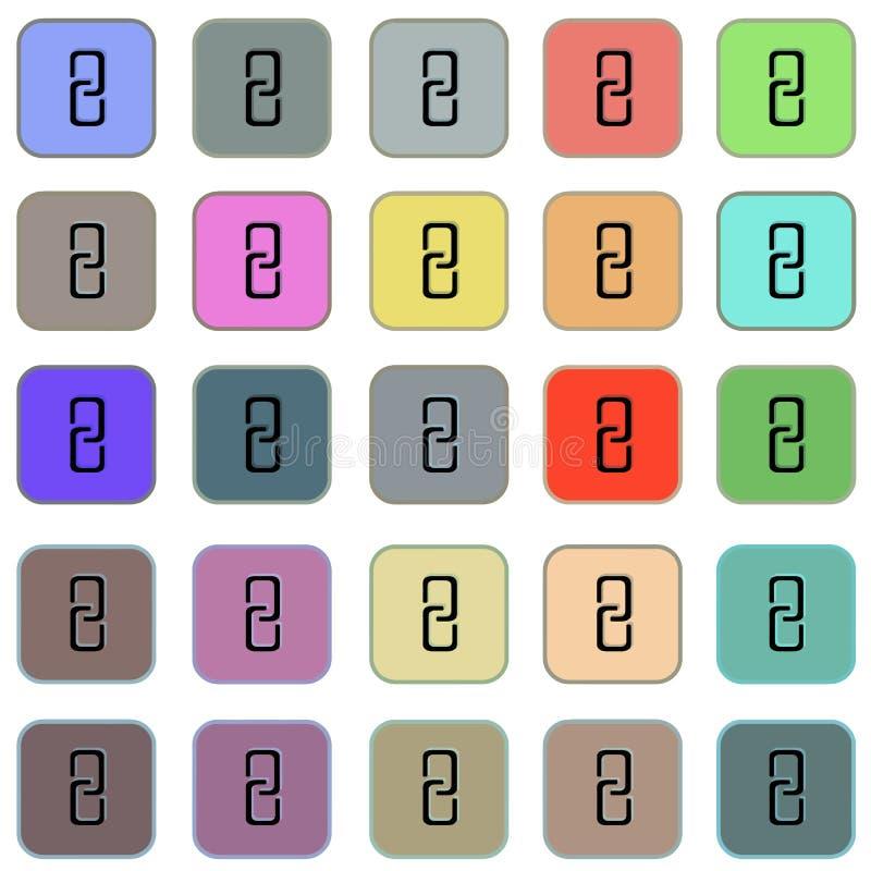 Fastställd vektor för rengöringsduksymboler - den plana internet knäppas med sammanlänkning stock illustrationer