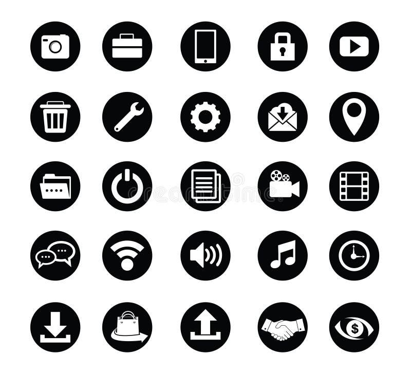 fastställd vektor för standard symbol för rengöringsdukdesign och applikation stock illustrationer