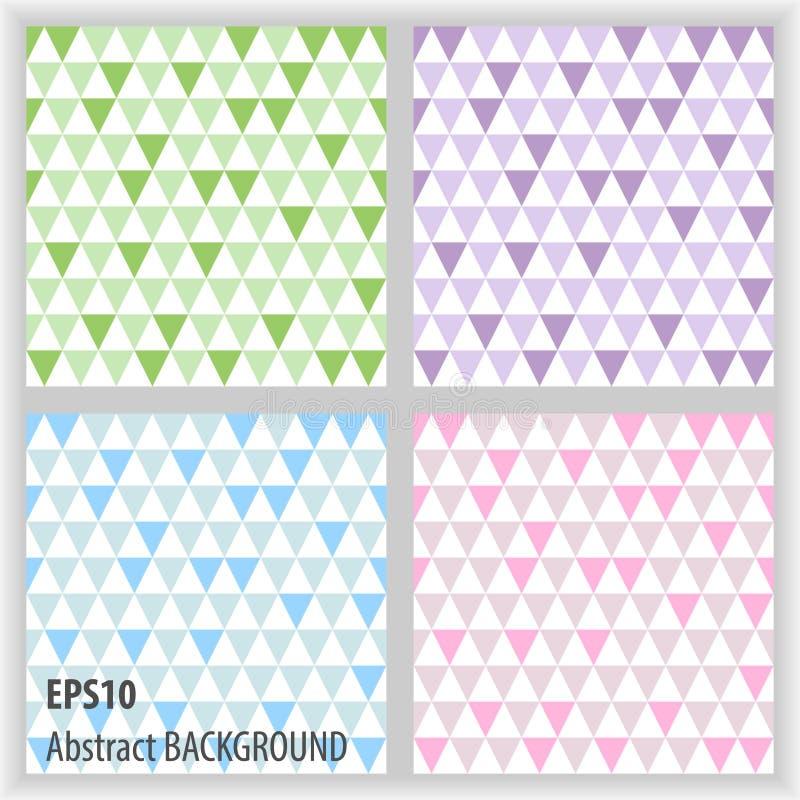 Fastställda abstrakta triangelbakgrunder royaltyfri fotografi
