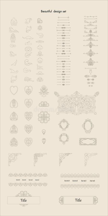 Fastställda beståndsdelar för härlig design för din kreativitet vektor illustrationer
