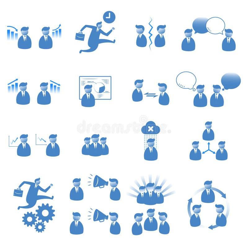 Fastställda kontorsfolk symboler vektor illustrationer
