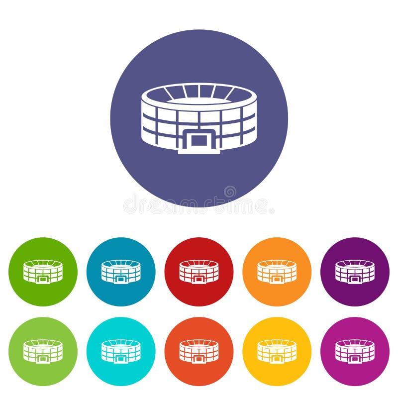 Fastställda symboler för stadion stock illustrationer