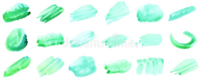 Fastst?lld vattenf?rgbakgrund f?r text vektor illustrationer