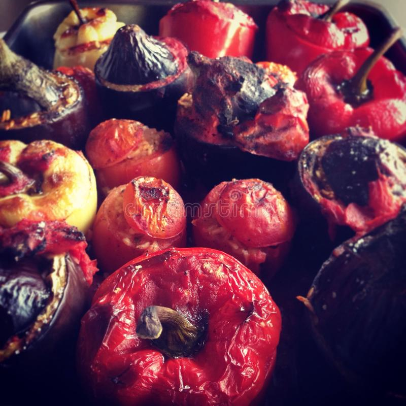 faszerowane pomidory fotografia stock