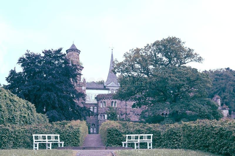 Faszinieren Sie Ansicht von Lowenburg-Schloss, in Kassel, Deutschland stockbild