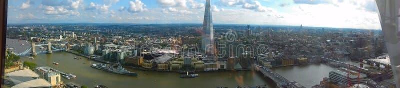 Faszinierende Ansicht über Londons-Skyline lizenzfreies stockfoto