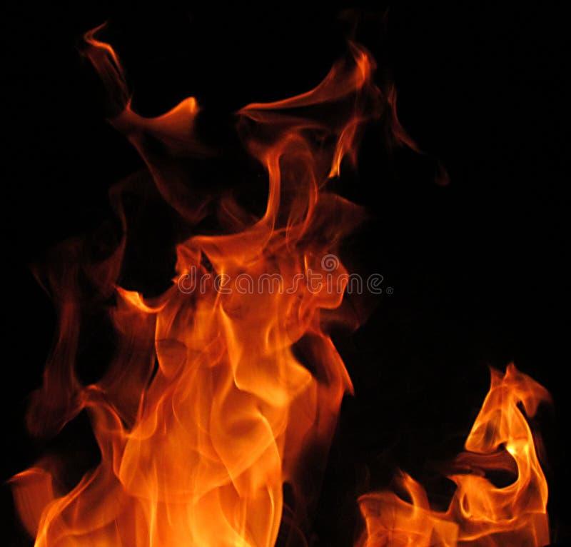 Faszinierende Fotos der Flammen stockbild