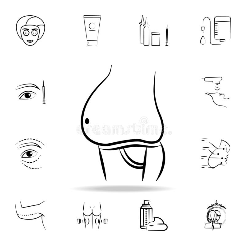 Fat belly icon. Detailed set of anti-aging procedure icons. Premium graphic design. One of the collection icons for websites, web. Design, mobile app on white vector illustration