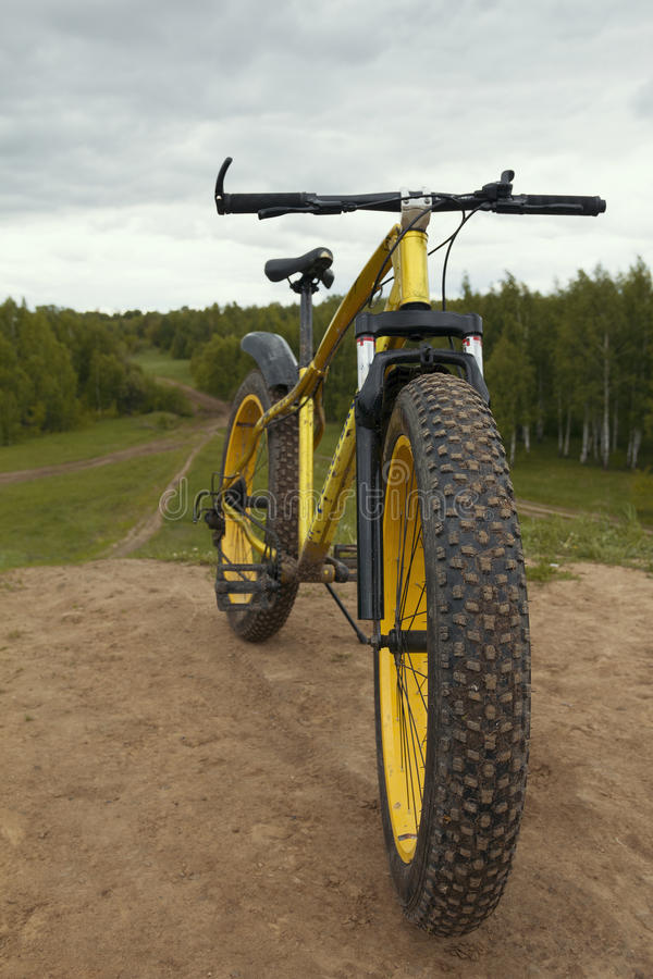 Fat bike - dirty bicycle outdoor stock photography