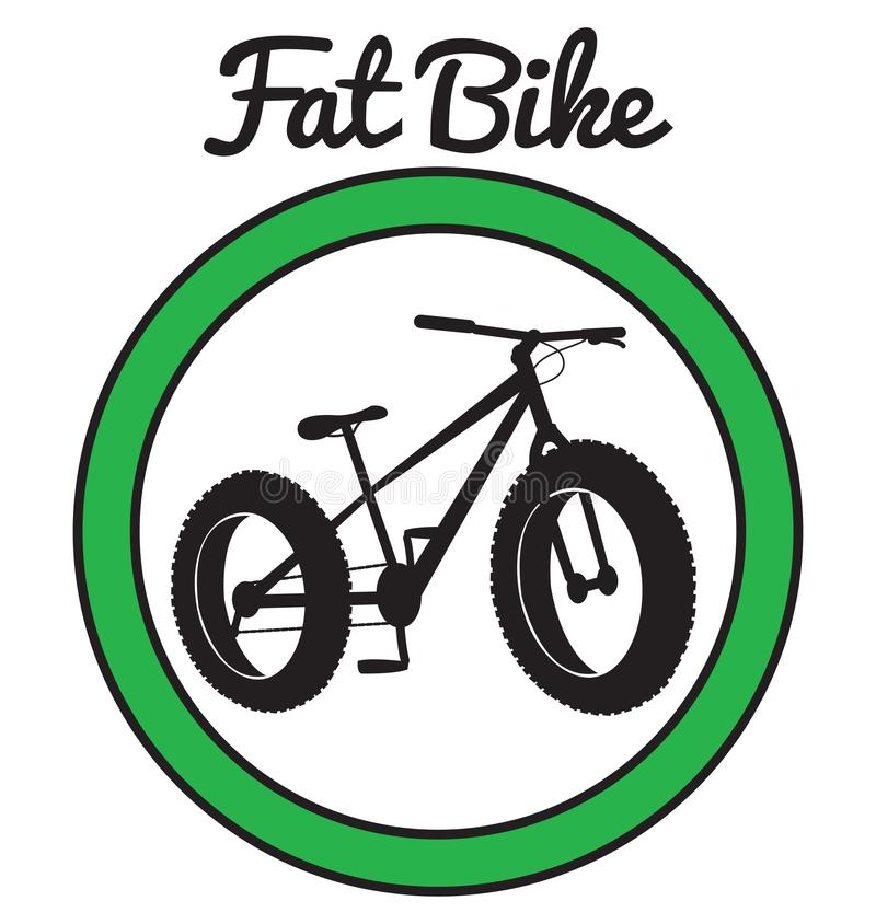 Fat bike mountain bicycle sport. Vector vector illustration