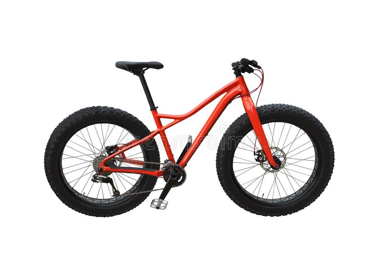 Fat bike isolated on white royalty free stock photo