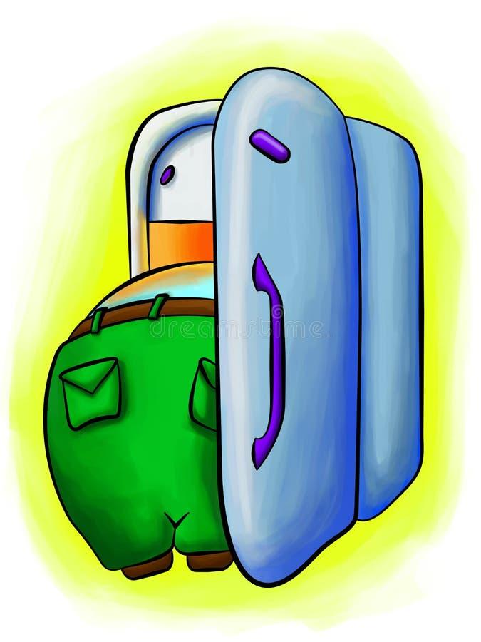 Download Fat boy deep inside fridge stock illustration. Image of refreshment - 8548291