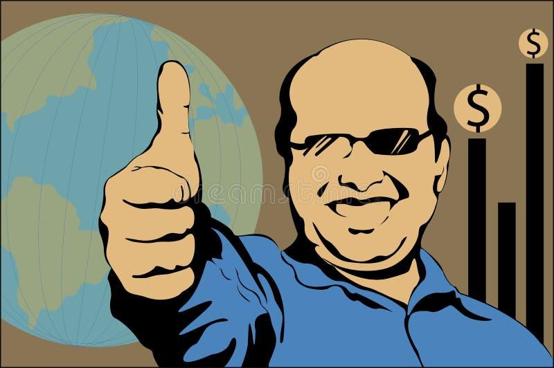 Download Fat businessman gesture stock vector. Image of contour - 4093674