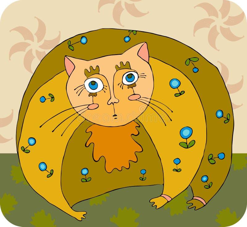 Download Fat Cat stock vector. Image of lying, image, orange, reclining - 24244643