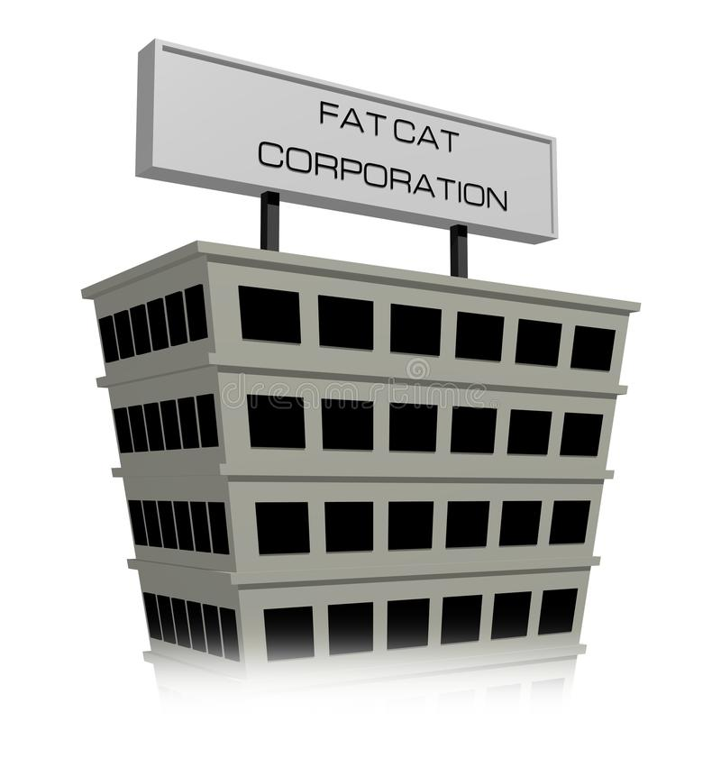 Download Fat Cat Corporation stock illustration. Image of powerful - 38065033
