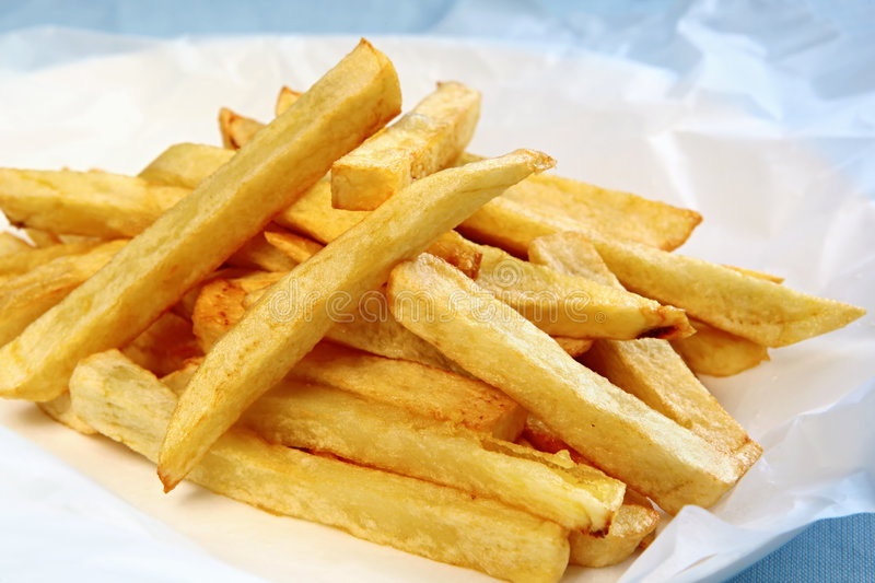 Fat Chips stock image