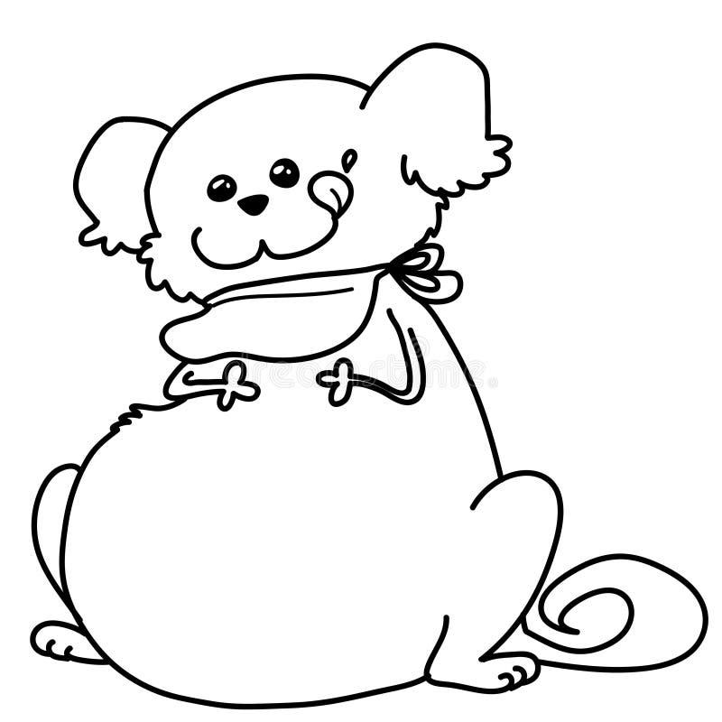 Download Fat dog bw stock vector. Illustration of funny, food, hunger - 6913551