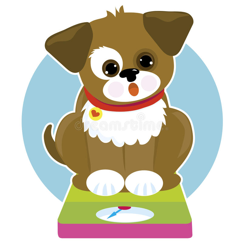 Fat Dog Scale royalty free illustration