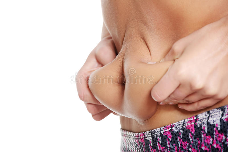 Fat Female Belly Royalty Free Stock Images